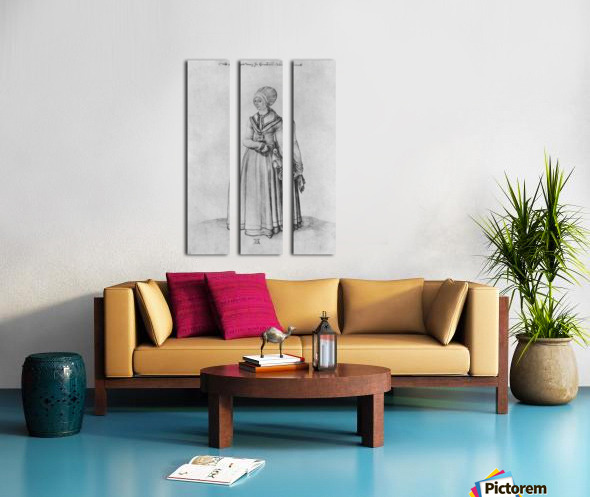 Nuremberg woman in house dress Split Canvas print