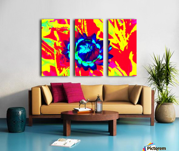 Graphic Flower Effect 2 Split Canvas print