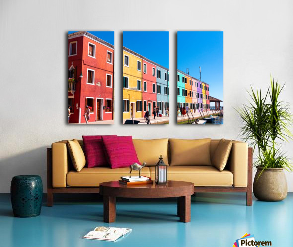 Colorful Venice Houses Split Canvas print