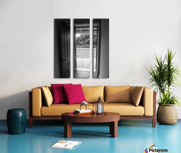 Open Door Black & White Split Canvas print
