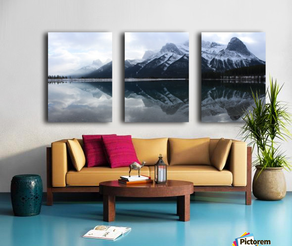 Canmore Winter Mountain Panorama Split Canvas print