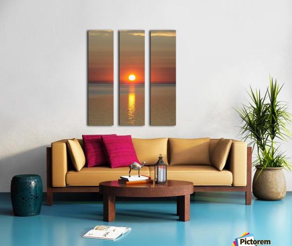 Orange Sunset Vertical Split Canvas print