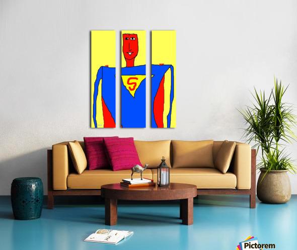 Superman Lite Split Canvas print