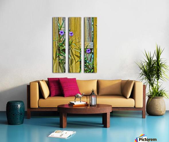 Fence Flowers 1 Split Canvas print