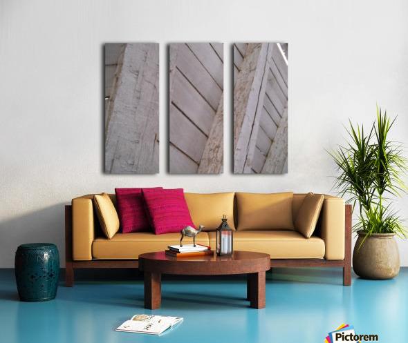Wooden Beams Split Canvas print