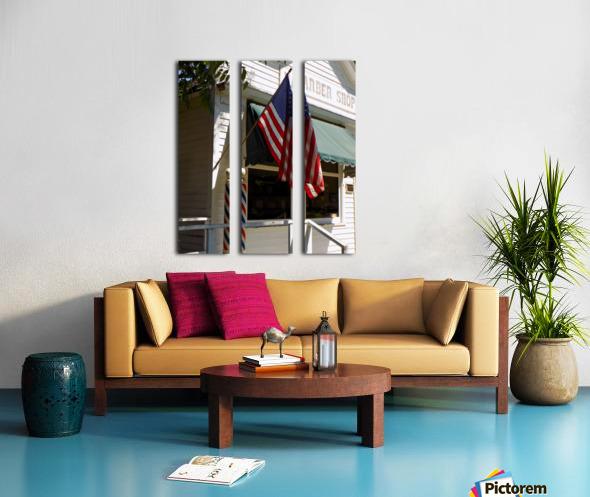 Patriotic Barber Shop Split Canvas print