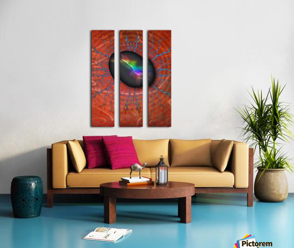 Rock of Power Split Canvas print