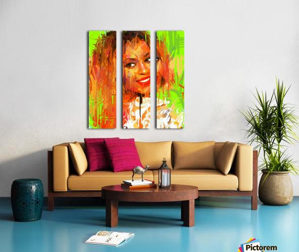 beyonce Split Canvas print