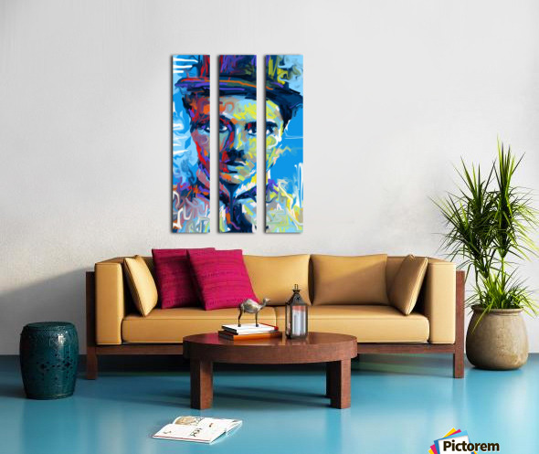 CharlieChaplin4 Split Canvas print
