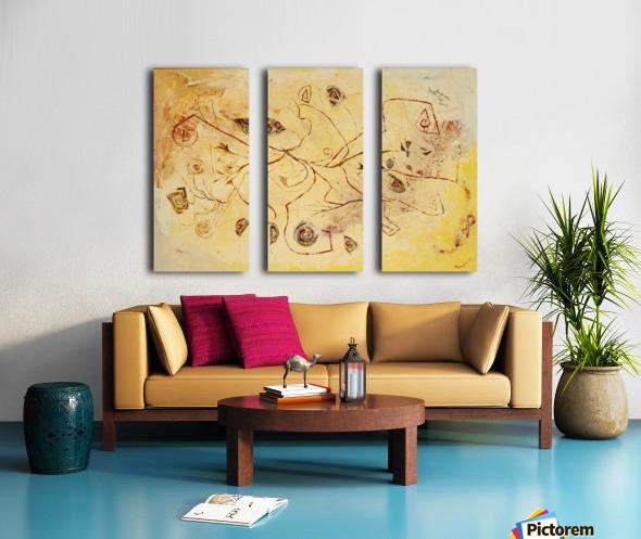 copper threads Split Canvas print