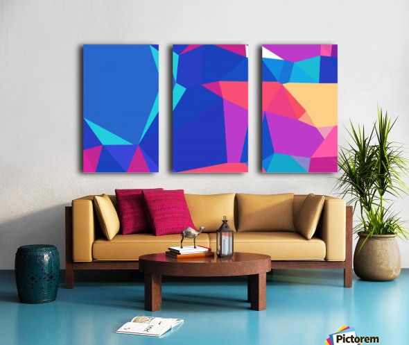 abstract geometric triangular art Split Canvas print