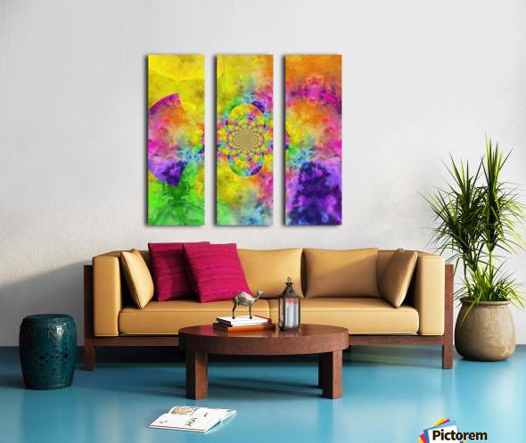 Colorful Fractal Split Canvas print