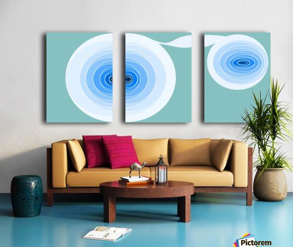 Hypnotize 2 Split Canvas print