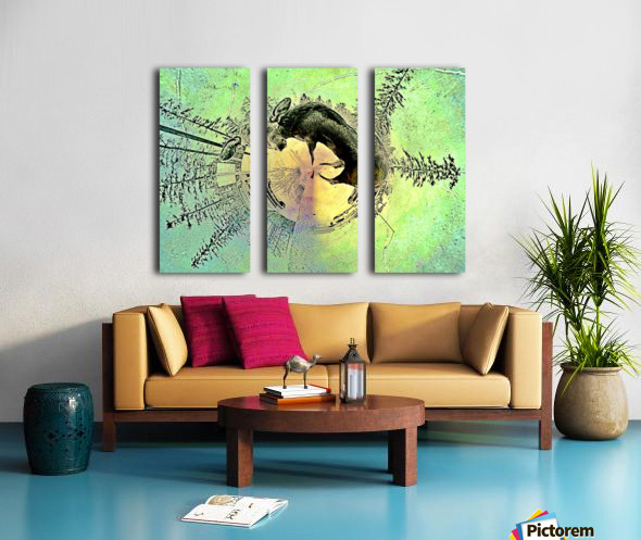 abstract baby moose  Split Canvas print