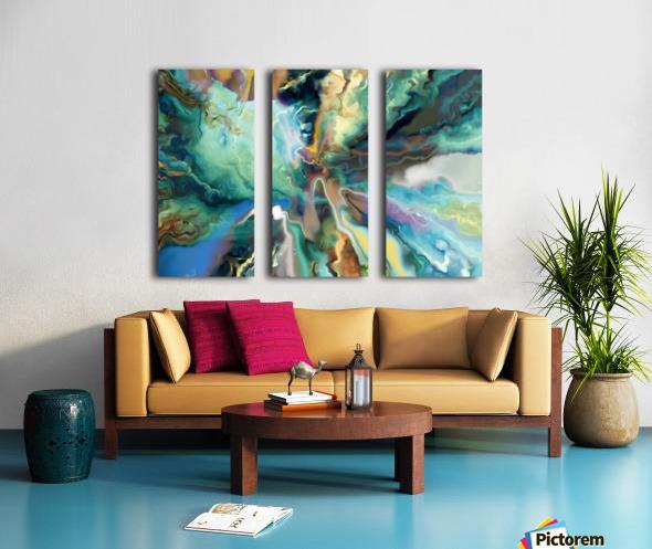 Color Galaxy 20 Split Canvas print