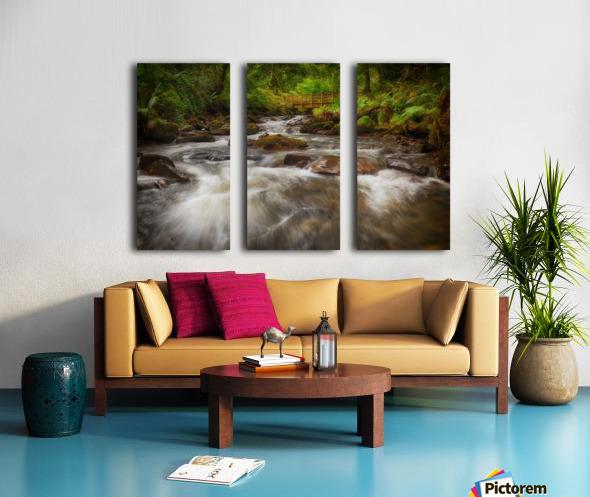 The wooden bridge over the river Melin Split Canvas print