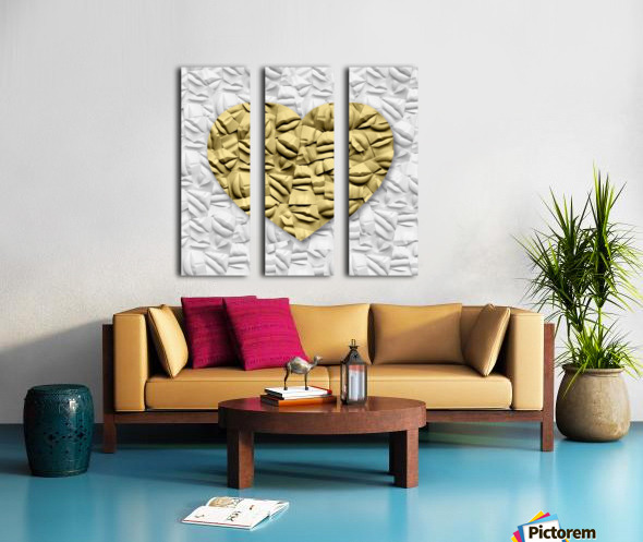 HEART OF GOLD Split Canvas print