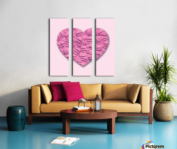 HEART OF PINK Split Canvas print