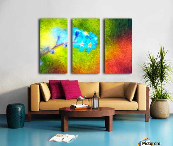 Forget Me Nots In The Wild  Split Canvas print