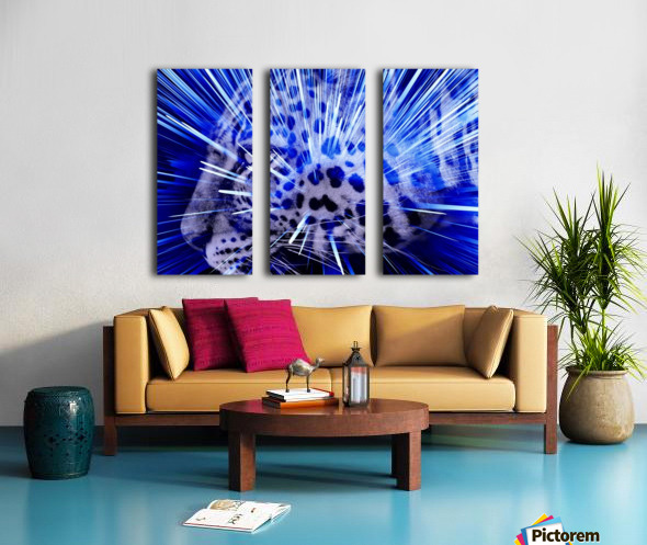 Leopard pop 4  Split Canvas print
