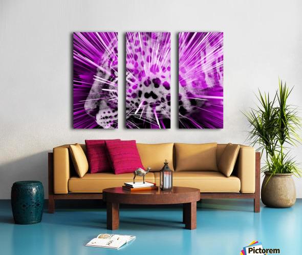 Leopard pop 3 Split Canvas print