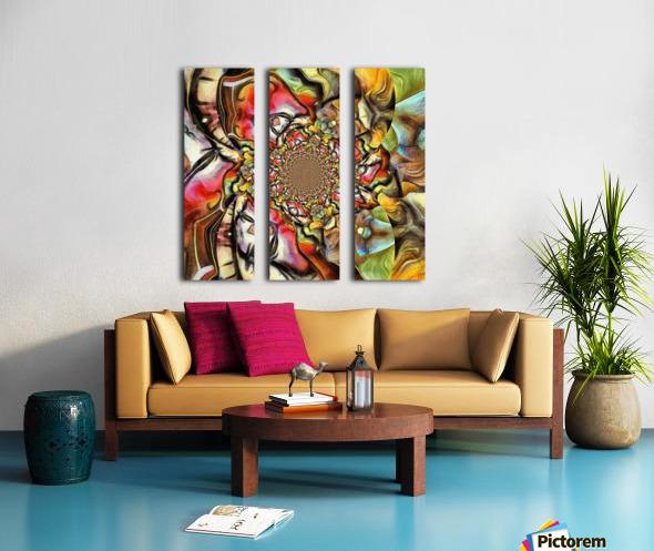 Abstract Fractal Split Canvas print