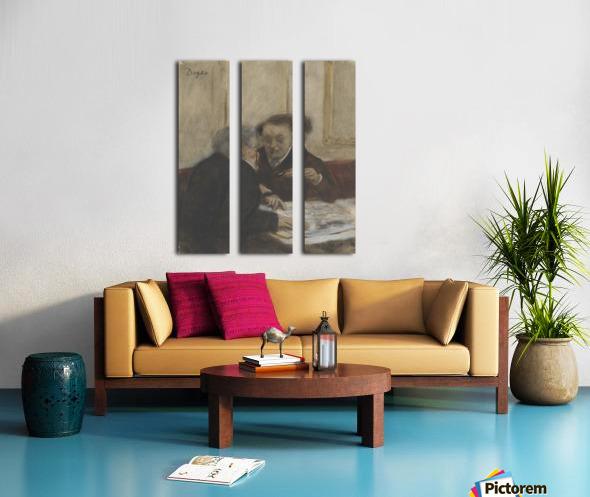 At the Café Châteaudun Split Canvas print