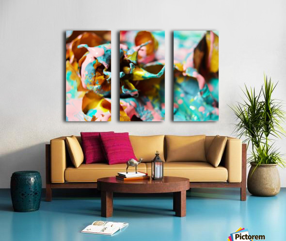 Painted Roses.10 Split Canvas print