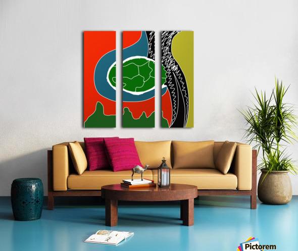 EarthWomb Split Canvas print