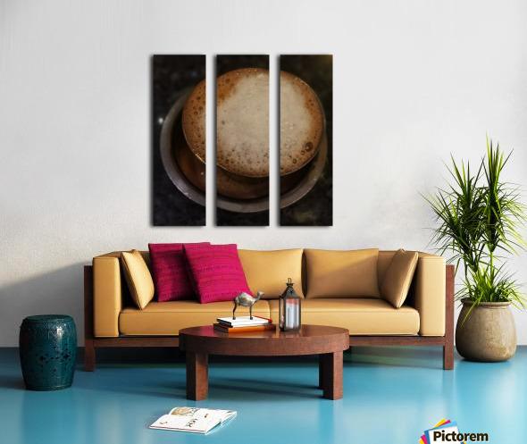 Indian Filter Coffee Split Canvas print