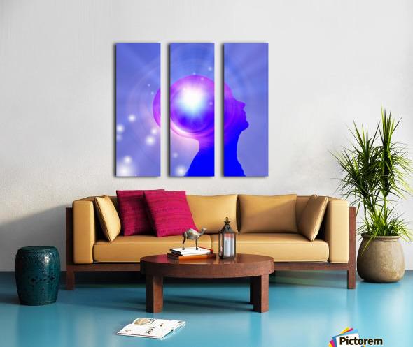 Human Head with Light Split Canvas print