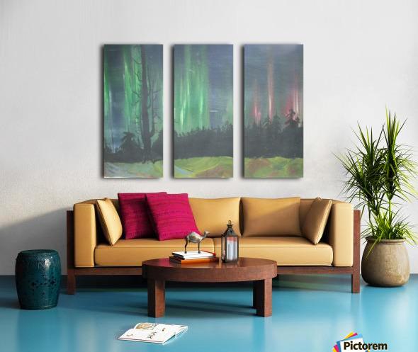 Aurora Borealis Split Canvas print