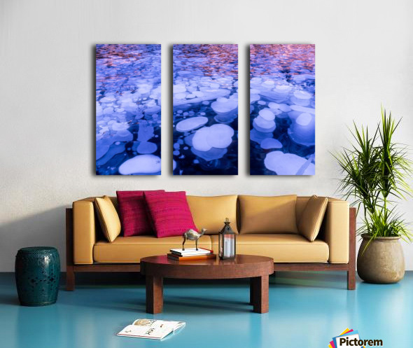 Abraham Lake Bubbles Split Canvas print