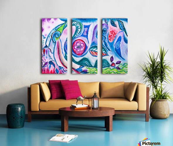 rising thoughts Split Canvas print