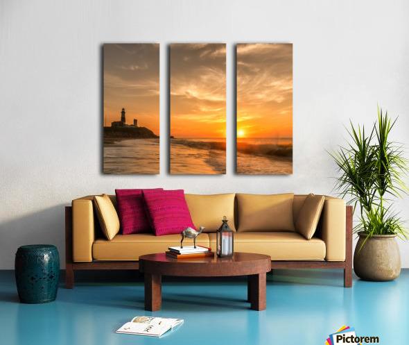 Montauk Beach Split Canvas print