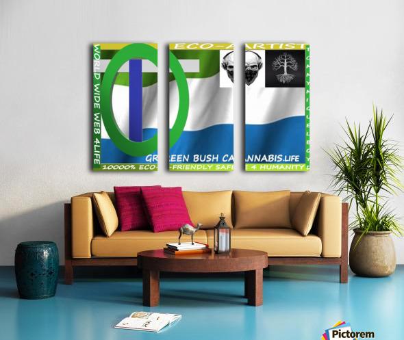GREEN BUSH CANNABIS. LIFE Split Canvas print