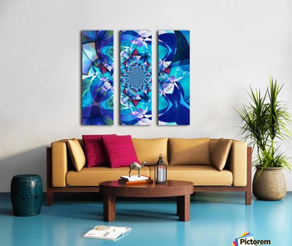 The Game of Light Split Canvas print