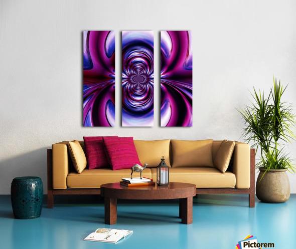 Purple Space Split Canvas print