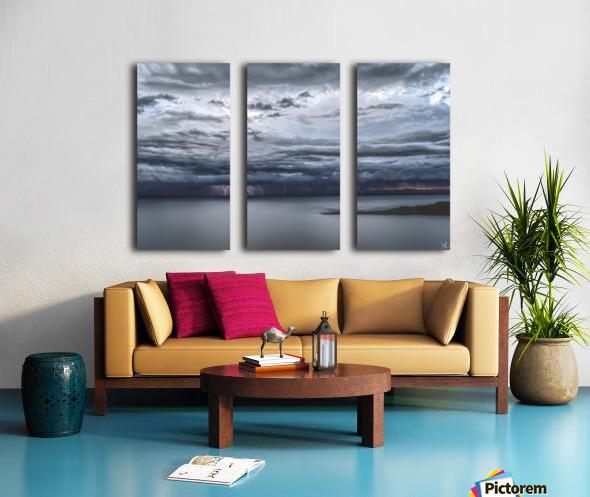 Lightning Over Lake Titicaca Split Canvas print