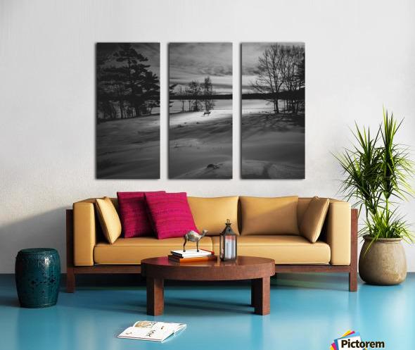 Empty Bench Split Canvas print