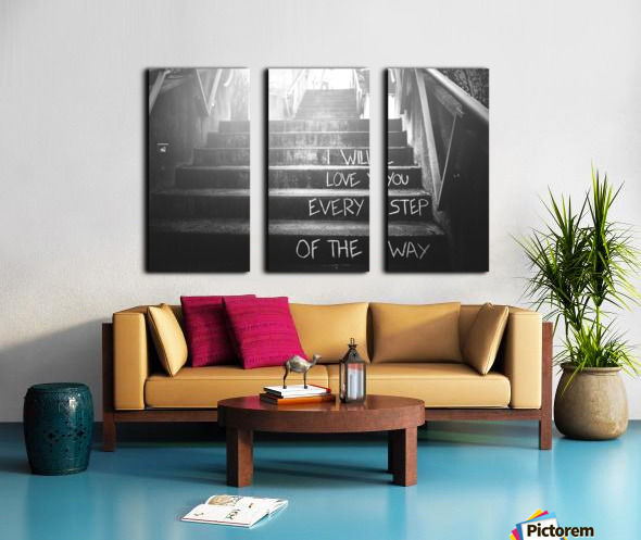 What Love Is Split Canvas print