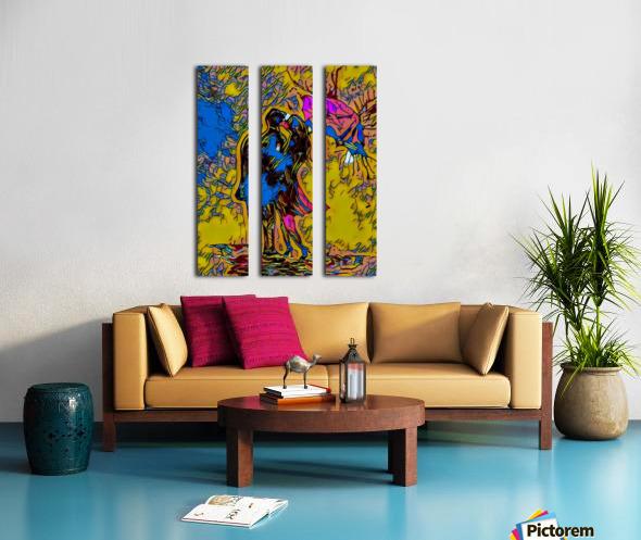 abstract love Split Canvas print