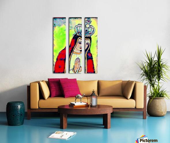 saint abstract Split Canvas print