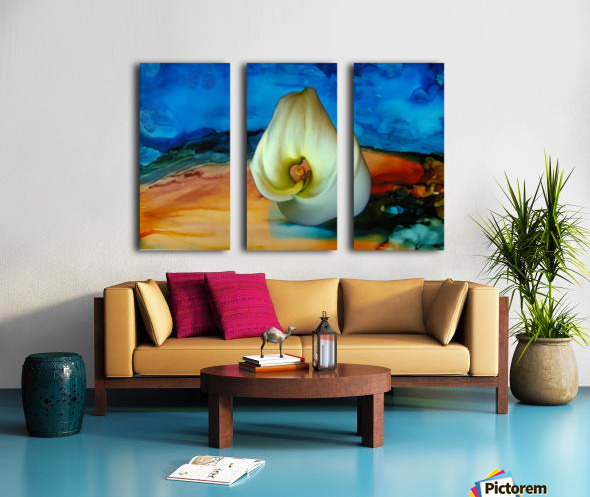 Alcohol Ink and Lily III Split Canvas print