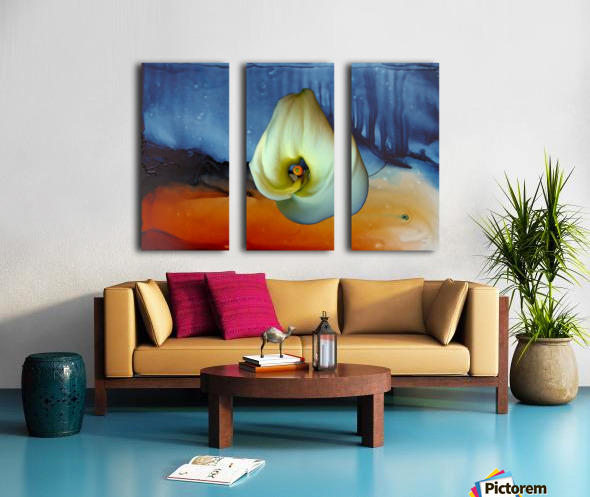 Alcohol Ink and Lily I Split Canvas print