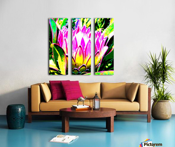 pink protea Split Canvas print