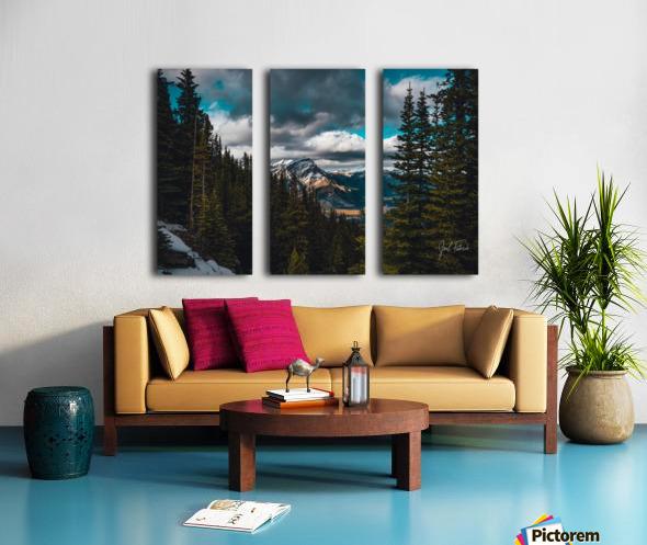 Cascade Mountain Through The Trees Split Canvas print