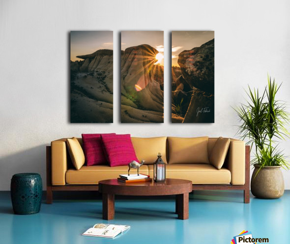 DPP Hoodoo Sunburst Split Canvas print