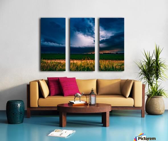 Prairie Lightning Split Canvas print