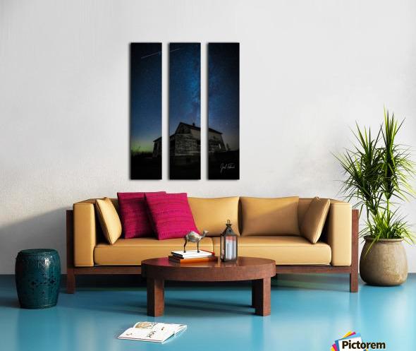 Abandoned House Milky Way   Hi Res   A3 Split Canvas print